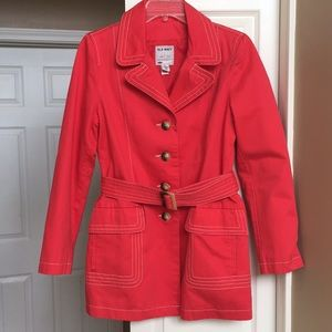 Jackets & Blazers - Coral trench coat